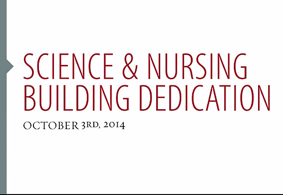 Simpson University's Science and Nursing Center Dedication Video