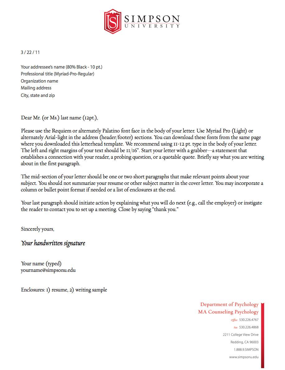 E paper media resources simpsonu sample letterhead example spiritdancerdesigns Image collections