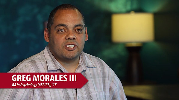 Gregory Morales Adult Degree-Completion Testimonial Video