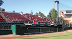 A photo of baseball stadium seating