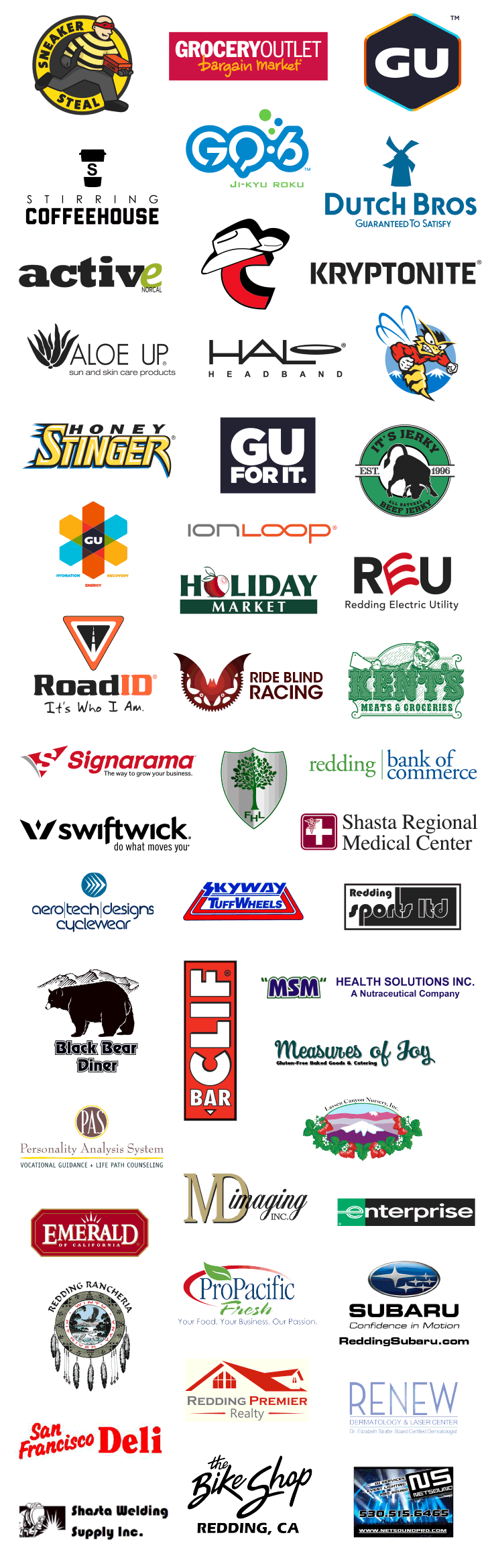 Red Hawk Ride 2016 Sponsors