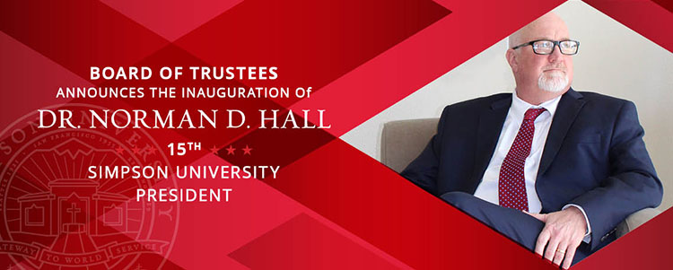Dr. Hall Inauguration Banner
