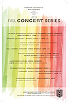 Fall 2013 Concert Series Poster
