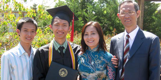 Nguyen Tran and his family