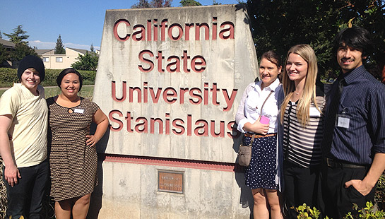 Simpson University history students attend the Northern California Regional Phi Alpha Theta Conference at CSU Stanislaus on April 18.