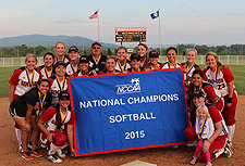 Softball National Championship banner photo