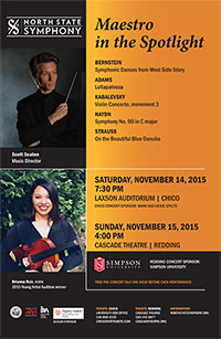 North State Symphony Concert Poster