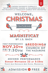 """Welcome Christmas"" Concert Poster"