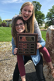 Kayla Holland and Brooke Mejorado were named co-Biology Students of the Year