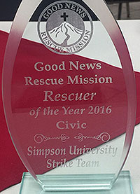Good News Rescuse Mission Award