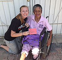 Kayla Holland on a WorldSERVE trip to Mexico in 2016