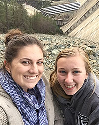Brooke and Kayla visit the Shasta Dam
