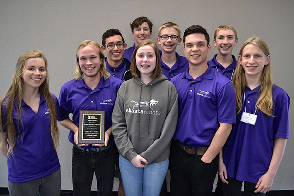 Shasta High School 'Project SKOUT' team
